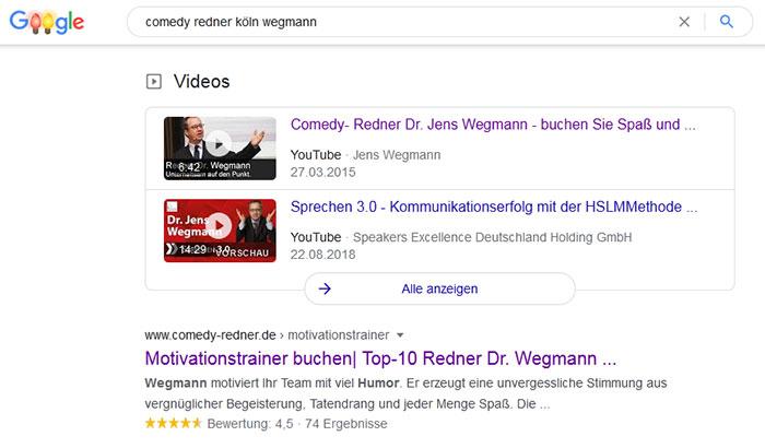 Video Suchergebnisse